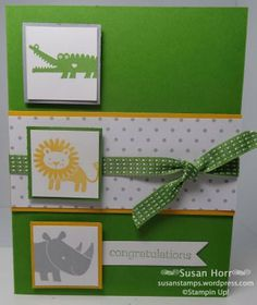 Zoo Babies, SUO, Stampin Up, susanstamps,wordpress.com