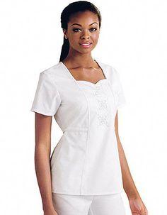Creative Love Shadow Womens Fashion Scrub Set Medical Uniforms Mock-wrap Top With Adjustable Back Tie Doctor Clothes Nurse Uniforms Scrub Sets