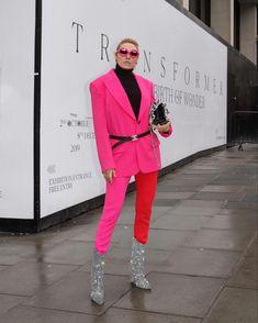 #pegahpourmand wearing #revolve during #lfw #aw2020 #loversfriendsla #lindafarrow Linda Farrow, Blazer, Jackets, Men, Style, Fashion, Down Jackets, Fashion Styles, Jacket