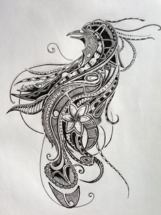 Polynesian Tattoo - Bird Of Paradise (Design II) by ~Jay-emm-aye on deviantART-omg I looooooove this sooooo much! Tattoos Skull, Tribal Tattoos, Hand Tattoos, Sleeve Tattoos, Tatoos, Maori Tattoos, Body Tattoos, Bird Of Paradise Tattoo, Mehndi