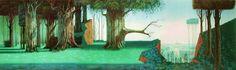 Sleeping Beauty Background Concept Art Disney.
