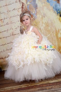 feather tutu dress by Your Sparkle Box on etsy