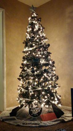 My Raiders Christmas tree   Stuff I made  Pinterest  Raiders