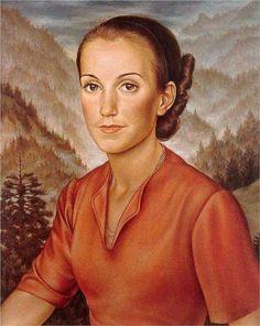 """Isabella"", 1934, by Christian Schad (German, 1894-1982)."