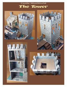 The Castle Holzspielzeug - Kids&Baby Toys Castle Dollhouse, Cardboard Dollhouse, Cardboard Castle, Cardboard Crafts, Dollhouse Miniatures, Paper Crafts, Styrofoam Crafts, Fun Crafts, Diy And Crafts