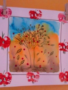 strom na podzim v rámečku