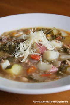 Minestrone with Italian Sausage and Kale