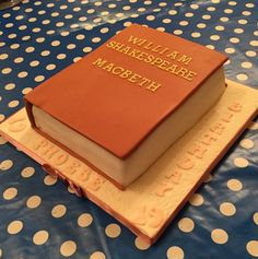 Shakespeare book cake