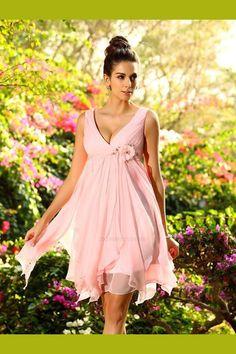 a569785a7b28 A-Line Bridesmaid Dresses, V Neck Bridesmaid Dresses, Bridesmaid Dresses  Chiffon, Bridesmaid
