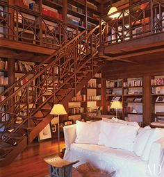 NEED. All these home libraries are cool, but #2 and 17 are my favorite. #2 looks like a mountain retreat (and I loooove mountains), and 17 is just so comfy! I could definitely see myself happily reading on that couch for hours! Future husband, take note: I most certainly expect you to build me a library ;)