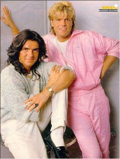 Whahaha...those tracksuits are da Bomb! ;) I'm a 80ies girl so i listened to Modern Talking...and I liked it! (Little shame this time)