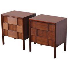 Pair of Mid Century Modern Edmund Spence Walnut Side Tables