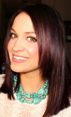 """Serene - Some girls shy away from the burgundy hue when picking hair dyes, simply because they think of something gaudy. But red wine can be very """"calm"""", elegant and decent like this gorgeous shade with random cherry wood highlights."""