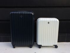 Pan Am Daily Traveler Series Trolley Cases. Size L : 50L  S : 35L Color : Blue, Navy and White /パンナム