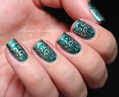 "Circuit Board Nail Art for The Digit-al Dozen ""metal"" week  