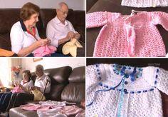 Casal de Joinville faz roupinhas de crochê para bebês e doa a famílias sem condições de pagar enxoval