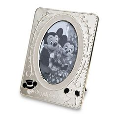 Disney parks metal minnie and mickey wedding metal picture photo frame new with box