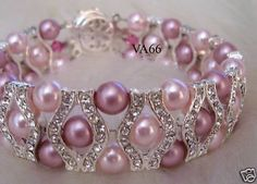 Beautiful!   Bridal 27 Color Choices 18KGP Rhinestone Swarovski by vcreations