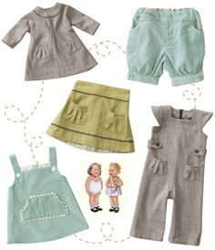 Olive's Friend Pop - vintage-inspired play wear for little girls...the website to order doesn't work but great inspiration for how I want to dress my little lady!