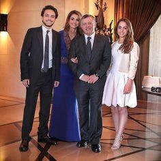 April 2015 - King Abdullah, Queen Rania, Prince Hussein and Princess Iman