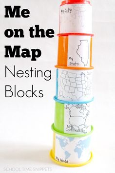 Love the idea of using nesting block toys to help young kids understand their place in the world!