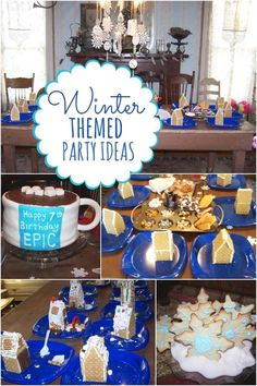 Boy's Winter ONEderland Birthday Party - Spaceships and Laser Beams Winter Birthday Themes, First Birthday Winter, Winter Party Themes, Birthday Themes For Boys, Winter Parties, 10th Birthday Parties, 1st Boy Birthday, Winter Theme, Birthday Party Themes