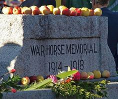 Australian Memorial to their horses of World War I. Touching how People still leave apples on the Memorial.