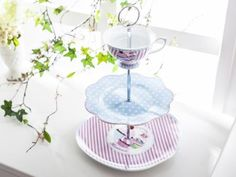 Sweeth Delight Bone China Cake Stand Blue