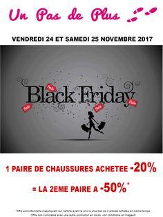 Black friday au magasin UN PAS DE PLUS !