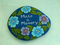 Make a memory painted rocks inspirational ooak 3D by RockArtiste