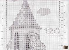 Princess Castle growth chart 3 of 9 Cross Stitch Fairy, Cross Stitch Charts, Cross Stitch Designs, Cross Stitch Patterns, Cross Stitching, Cross Stitch Embroidery, Cardboard Box Crafts, Cardboard Castle, Cross My Fingers