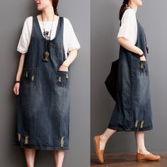 Blue Cowbory Cotton Summer Dress