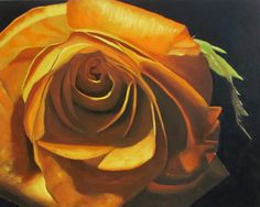 "www.keithwjohnson.com Contact me for commissions or to purchase  my art at draggingsticks@gmail.com yellow orange rose painting 24""x30"" oil on stretched canvas art This painting was selected for the Juried Exhibit of WV in 2011."