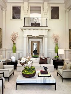 """Traditional Living Room by Powell & Bonnell via @Architectural Digest #designfile - I love how they call this """"traditional"""" - yep, just like all the houses around me!"""