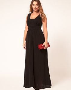 ASOS CURVE Exclusive Cheesecloth Maxi Dress. Comes in pink as well.