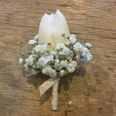 Tulip and Gyp Boutonniere