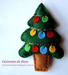 Mejores 479 Imagenes De Adornos De Navidad Con Fieltro En Pinterest - Adronos-de-navidad