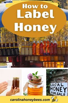 Design honey jar labels that are legal and promote your product. Labeling honey should meet all legal requirements too! #carolinahoneybees