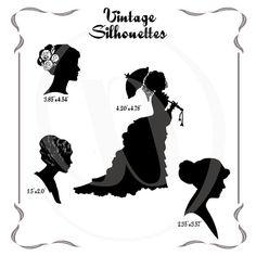 Instant Download Vintage Victorian Women by BubblewaterDesigns
