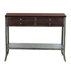 Home Decorators Collection 42.25 in. W Brentford Espresso Console-0548000820 - The Home Depot