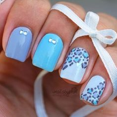 Trendy nail art idea for summer 2015