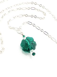 Four Leaf Clover Necklace #Lucky by UrbanClink, $26.00