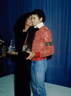 Michael and Diana Ross at the 1981 American Music Awards.