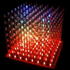 Real-Time Driving of RGB LED Cube using UNity3D
