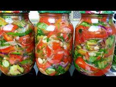 ШАКАРОБ!!!Зимой жалела что мало приготовила/ Проверенный рецепт✔ - YouTube Salty Foods, Container Gardening, Preserves, Pickles, Salsa, Vegetarian Recipes, Health Fitness, Jar, Stuffed Peppers