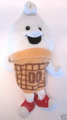Dairy Queen Ice Cream Collectible DQ Advertising Plush Bean Bag Doll Toy - complete with curly top :o) Doll Toys, Dolls, Orange Julius, Dairy Queen, Fast Food Restaurant, Soft Serve, Ronald Mcdonald, Bean Bag, Plush