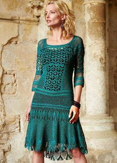 ,NO PATTERN, BUT AS PRETTY AS A CROCHET DRESS CAN GET!