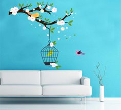 Heart Wall Decal Hearts Hanging From Ceiling Wall Decal - Custom reusable vinyl wall decals