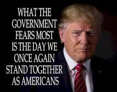 What the government fears most is the day we once again stand together as Americans.  @michaelsusanno @emmammerrick @emmasusanno  #WeSupportour45thPresident