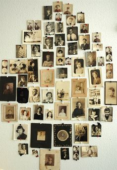 vintage photo wall
